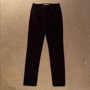 Levi's 721 High Rise Skinny Jeans Black Soft 26
